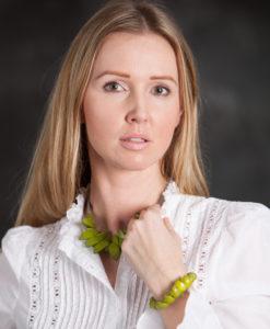 """Modelka s Kyokya náhrdelník """"Cheyenne"""" zelený K016"""