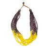 """Kyokya dřevěný náhrdelník """"Rain"""" žlutý K052"""