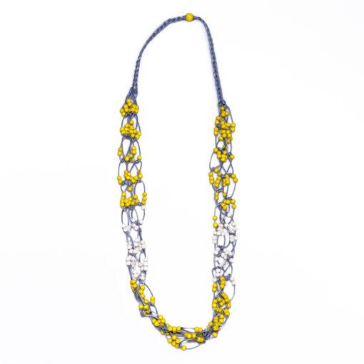"""Kyokya dřevěný náhrdelník """"Emma"""" žlutý"""