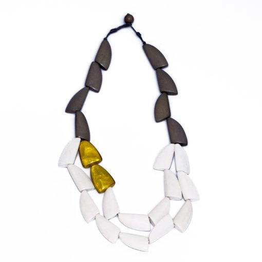 """Kyokya dřevěný náhrdelník """"Eugenie"""" K041"""
