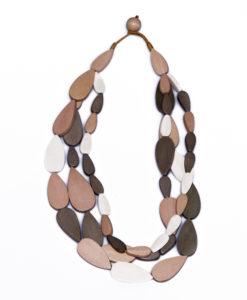 """Kyokya dřevěný náhrdelník """"Leticia"""" béžový K037"""