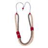 """Kyokya dřevěný náhrdelník """"Phyla"""" růžový K044"""