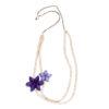 """Kyokya dřevěný náhrdelník """"Orchid"""" fialový K049"""