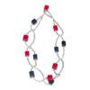 """Kyokya dřevěný náhrdelník """"Cubic"""" červený K043"""
