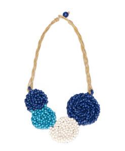 """Kyokya dřevěný náhrdelník """"Selda"""" modrý K009"""