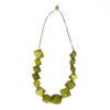 """Kyokya dřevěný náhrdelník """"Chinen"""" zelený K022"""