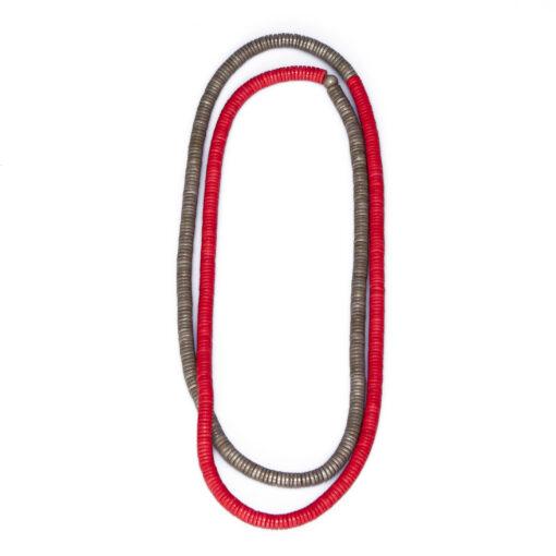 """Kyokya dřevěný náhrdelník """"Rory"""" červený K062"""