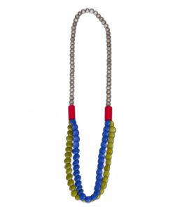 """Kyokya dřevěný náhrdelník """"Vivid"""" zelený K039"""