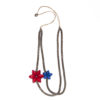 """Kyokya dřevěný náhrdelník """"Orchid"""" červený K048"""