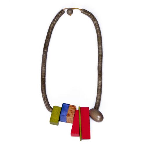"""Kyokya dřevěný náhrdelník """"Aubrey"""" červený K055"""